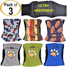 Belly Band Size Chart Details About Pack Of 3 Dog Diapers Male Belly Band Wrap Leak Proof Washable Ultra Absorbent