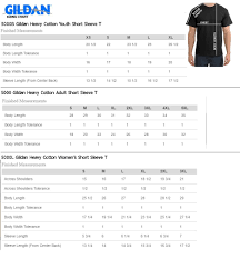 Gildan Hammer Size Chart Gildan Heavy T Shirt Size Chart Rldm