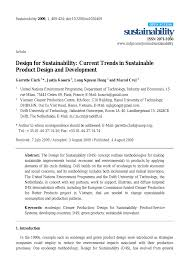 Design And Production For Sustainability Design For Sustainability Current Trends In Sustainable