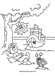 Kleurplaat Schip Boot Aanmeren Vlinder Jaargetijden