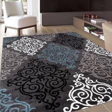 image of nice grey and white area rug