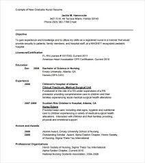 new graduate nurse resume sample sample new grad nursing resume
