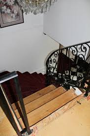Removing Stair Carpet Remodelaholic Curved Staircase Remodel With New Handrail