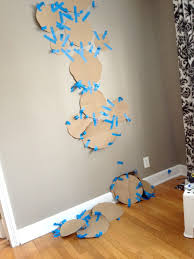 step 3 tape your templates to the wall