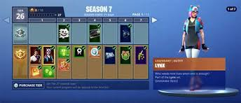 Fortnite Season 4 Level Chart Fortnite Season 7 Skins Starter Skins Tier 100 Reward And