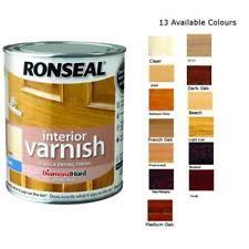 Ronseal Varnish Colour Chart Ronseal 36832 Interior Varnish Quick Dry Satin Beech 750ml