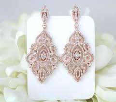 rose gold chandelier earrings dangling chandelier diamond earrings