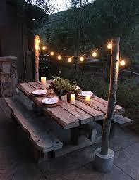 easy diy outdoor dining table. 50 beautiful rustic home decor project ideas you can easily diy outdoor- dining-table-ideas-reclaimed-wood easy diy outdoor dining table