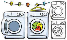 washing machine and dryer clipart. clothesline with clothespins and washer machine stock photography washing dryer clipart
