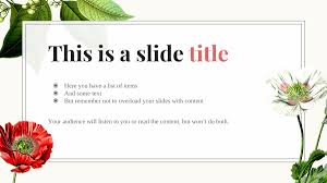 Flower Powerpoint Free Floral Powerpoint Template 25 Ppt Slides