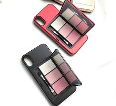 makeup palette eye shadow makeup mirror phone cases for iphone 8 plis 7 plus x 6