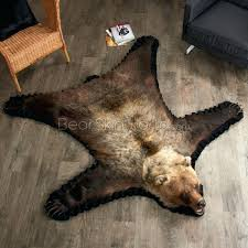 bear skin rug 5 foot 4 inch grizzly faux rugs with head fur hea