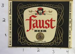 best for the love of faust images price guide  faust beer label anheuser busch brewing st louis