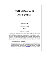 Nda Template Free Download 40 Non Disclosure Agreement Templates Samples Forms