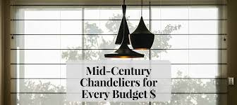 love light mid century modern chandeliers for every budget feat