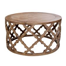 hamptons inspired round coffee table