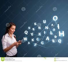 young w typing on smartphone high tech d letters commi young w typing on smartphone high tech 3d letters commi