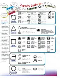 Clorox Care Symbol Chart Laundry Care Symbols Different Format I Framed This And