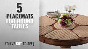 best placemats for round tables 2018 kitchen table placemat and centerpiece set 7 pc beige