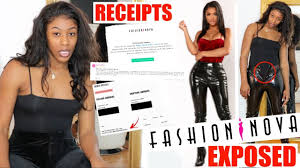 fashion nova exposed size chart is a lie they deleted my reviews receipts included