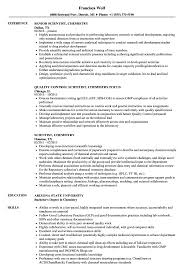 Chemistry Resume Scientist Chemistry Resume Samples Velvet Jobs 2