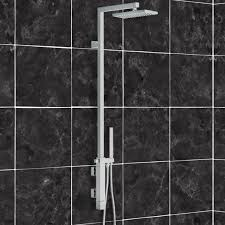exposed pipe shower remer qt36us shower set with single lever mixer diverter