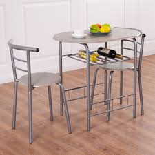 costway 3 piece dining set table 2 chairs bistro pub home kitchen breakfast furniture com