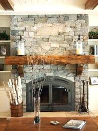 rock fireplace mantel