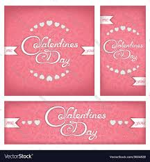 Valentines Flyers Festive Banners And Flyers For Valentines Day