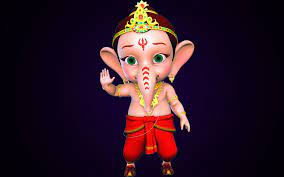 Bal Ganesh animation HD wallpaper ...
