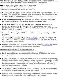 Nj Family Care Chart Nj Department Of Human Services Pdf