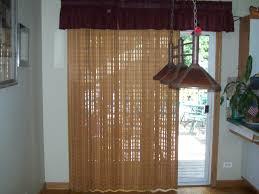 engaging treatment for sliding glass door bamboo blind and burdy valance treatment for sliding glass door