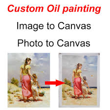 custom oil painting photo image or picture convert to hand painted canvas painting high quality