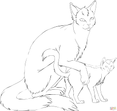 Small Picture Cat Mother with Kitten coloring page Free Printable Coloring Pages