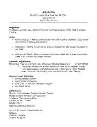 sample athletic resumes athletic trainer resume sample trainer resume sample brand