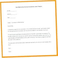 Gym Cancellation Letter Template Gym Membership Template Cancel Registration Form Word Excel