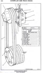 cat 3208 belt numbers and their proper adjustment wanderlodge for another drawing of the idler pulley tightener parts go to cat 3209 idler pulley belt tightener drawing jpg