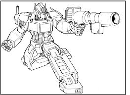 Small Picture Optimus Prime Transformers coloring picture for kids