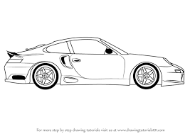 sport cars drawings. Plain Drawings Learn How To Draw A Porsche Car Side View Sports Cars Step By   Drawing Tutorials Intended Sport Cars Drawings T