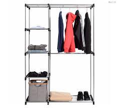 closet organizer garment rack portable clothes hanger storage home furniture
