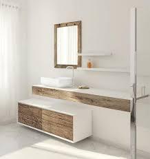 Modern bathroom furniture Unique Lushome Beautiful Weathered Wood Bathroom Furniture