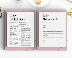 classy resume designs matching cover letter included