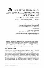 sequential and parallel local search algorithms for job shop inside