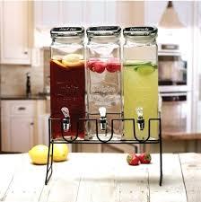 glass lemonade dispenser triple glass drink dispenser glass drinks dispenser uk