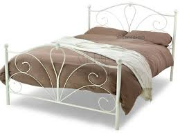 romance ivory metal bed crystal finials