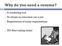 Resume Writing 101 Utc Career Student Employment Ppt Download