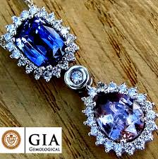 unheated 4 60 ct blue color change sapphire and pink sapphire diamond pendant with necklace in 18