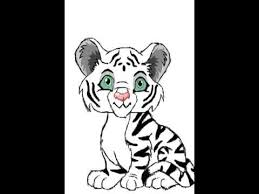 white tiger cubs drawing.  Drawing Drawing White Tiger Cub With Cubs Drawing C