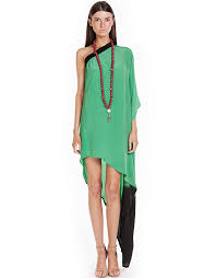 Angel Wings Green One Shoulder Dress Available Suede Online