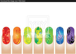 Nails clipart nail art - Pencil and in color nails clipart nail art